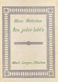 Hans Bötticher Umschlag