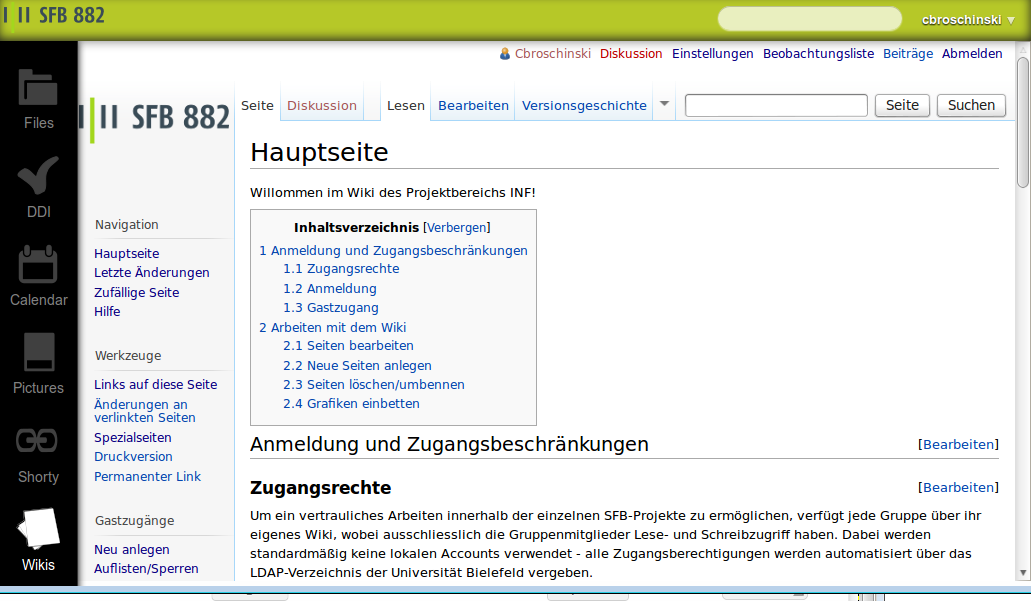 screenshot of wiki integrated into OC